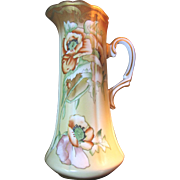 """Massive 13"""" Pitcher, Hand Painted in the Nippon Style"""