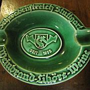 SALE Vintage German Ashtray Advertising Quality Brandy
