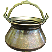 Small Hand Made Copper Turkish Pot, Great Patina!