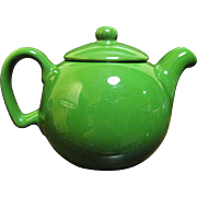 Cheerful One Person Little Green Teapot, Cute!