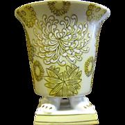 Vintage Andrea Porcelain Cache Pot, Four Paws, Hand Enameled!