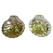 "A Pair Cambridge ""Caprice"" Shells, Footed, Yellow (up to 2 pairs available)"