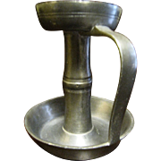 19th Century Pewter (Whale Oil) Lamp, Italian, Slot for  Wick