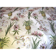 SOLD 6 1/2 Yd + Bolt End of Large Scale Pineapple Botanical 15 Color Screen Print