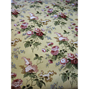 9 1/4 Yd Bolt End of Mid Weight Bouquet Upholstery Fabric