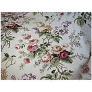 SOLD 7 1/2 Yd Bolt End of Mid Weight Bouquet Upholstery Fabric