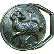 Beautiful Cast Pewter Aries Belt Buckle