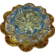 "Stacking Set of Three ""Flower"" Glass Ashtrays"
