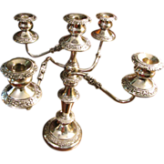 SALE Huge Birmingham Silver Company Plated Convertible Candelabra