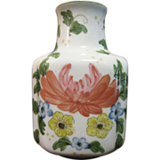 Nice Hand Painted Floral Vase for Andrea by Sadek
