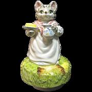 SOLD Schmid Beatrix Potter Mrs Ribby Musical Music Box 1981 Japan