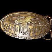 "1974 Bergamot Brass Works **Wild Turkey"" Belt Buckle"