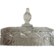 Lovely Pressed Glass Ornate Butter Dish Lid (No Base)