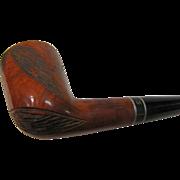 SALE Vintage Tobacco Leaf Hand Carved Medico Medalist Imported Briar