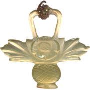 SALE Exceptionally Translucent Carved Water Jade Pendant