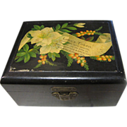 "Lovely Antique Victorian  ""Love's Token"" Mauchlin Ware Box"