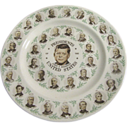 SOLD President J F Kennedy & Other Presidents Commemorative Plate