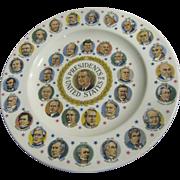 President L B Johnson & Other Presidents Commemorative Plate