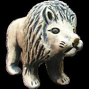 SALE Charming Whimsical Hand Made Pottery Lion Figurine