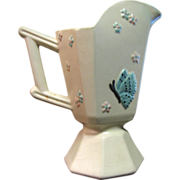 Hull Pottery Cream Butterfly Ewer or Pitcher, 1950's