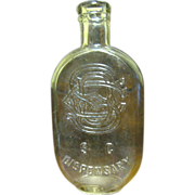 SALE 1860-1880's‏, South Carolina Flask with SC Dispensary & SCD monogram