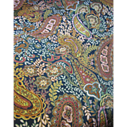 "SOLD 92"" Bolt End of Bold & Vibrant Woven Paisely"