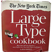 The New York Times *Large Type* Cookbook by Jean Hewitt