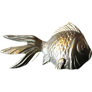 SOLD Super Cast Brass Koi Fish Ornament or Paperweight