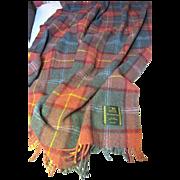 Large Pure Wool Tartan Plaid Throw, Trossachs Mills of Scotland