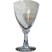 Fostoria Crystal Nosegay Pattern Water Goblet (up to 12 available)