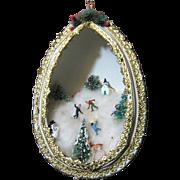 """SALE Huge 7"""" 1950's Diorama Tree Ornament"""