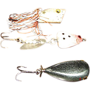 SALE Vintage Hand Carved & Painted Wood Fishing Lures Made by Danny Chebra