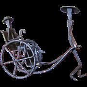 Wrought Iron Sculpture of Rickshaw