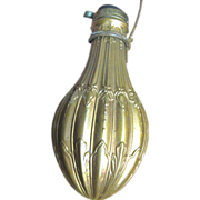 Vintage Italian Powder Flask in Copper & Brass, French 19th Century Style