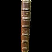 SALE 1840, Moll Fanders - A Novel of Daniel De Foe, Leather Boundd