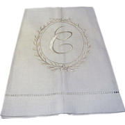 New Old Stock Pure Linen C Mono Finger Towel