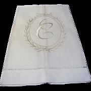 New Old Stock Pure Linen C Mono Finger Towel