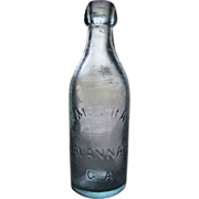 SALE 1860's -1880's, James Ray Blob Top Bottle. Savannah Georgia