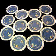 SALE Twelve 1920's Royal Doulton Gilt Hand Painted Dinner Plates