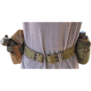 SALE Military Web Belt and Two Water Bottles