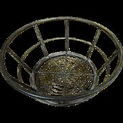 Primitive Wrought Iron Large Fruit Basket, Beautiful, Sturdy!