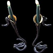 Superb Designer Jack Brubaker Wrought Iron Candlesticks