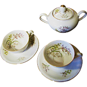 SALE Nice Pair of Demitasse and a Covered Sugar by Winterling Bavaria, Pattern No 49