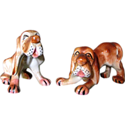 SALE Large Vintage Bloodhound Salt & Pepper Shakers, Japan