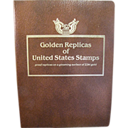 SOLD 40 - 22k Gold Replica & First Day Issues of US Stamps Mint