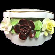 Pretty Royal Doulton Bone China Porcelain Box of Flowers