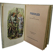 Freckles by Gene Stratton Porter, 1957 HC Illus Book Doubleday Jr. Deluxe Ed