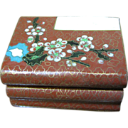 SALE Chinese Cloisonne Box in the Form of a Pile of Books