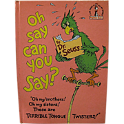 Oh, Say Can You Say? by Dr. Seuss, 1979
