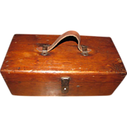 SOLD Classic Early Vintage Angler's Wood Fishing Tackle Box w/ Shelf & Dovetail Joints